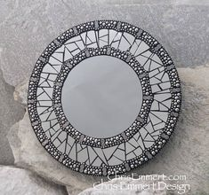 Smoked Mirror Mosaic Mirror, Round Mosaic Mirror, Home Decor Mirror Mosaic, Mosaic Wall, Mosaic Glass, Mosaic Tiles, Fused Glass, Mirror Painting, Mirror Art, Mirror Glass, Mosaic Crafts