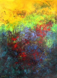 Daily Painters Abstract Gallery: Textured Field, acrylic abstract painting by Carol Engles