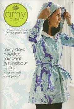 Amazon.com: Amy Butler Sewing Pattern - Rainy Days Hooded Raincoat