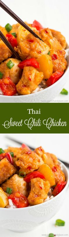 No need to order take-out with this sweet and spicy SLOW COOKER THAI SWEET CHILI CHICKEN! It's got the same great texture and taste without all the grease!