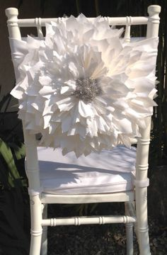 Discover thousands of images about Wedding chair cover wedding chair Palais Royale Ballroom Wedding Chair Decorations, Wedding Chairs, Decoration Table, Wedding Table, All White Wedding, Dream Wedding, White Chair Covers, Party Chairs, Chair Sashes