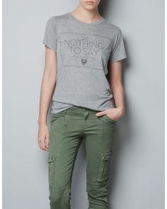 Zara GRAPHIC PRINT T-SHIRT