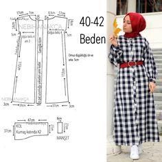 What I& Sewing: Practical Maxi Dress Up (Sewing, Fashion, Design) - Her Crochet Dress Sewing Patterns, Sewing Patterns Free, Sewing Tutorials, Clothing Patterns, Abaya Pattern, Hijab Mode, Hijab Stile, Diy Kleidung, Abaya Designs