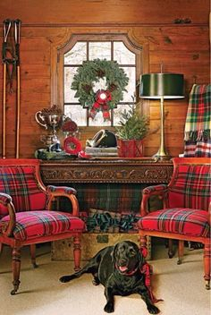 Christmas tartan decor