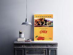 """Placa decorativa """"Filme Chef""""  Temos quadros com moldura e vidro protetor e placas decorativas em MDF.  Visite nossa loja e conheça nossos diversos modelos.  Loja virtual: www.arteemposter.com.br  Facebook: fb.com/arteemposter  Instagram: instagram.com/rogergon1975  #placa #adesivo #poster #quadro #vidro #parede #moldura"""