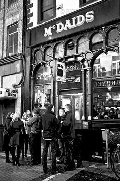 McDaids Pub, Dublin, Ireland Dublin Pubs, Dublin Ireland, Photography Gallery, Guinness, Times Square, Travel, Viajes, Destinations, Traveling