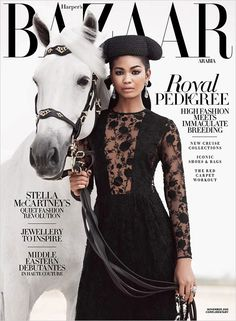 """siljamagg: """" Chanel Iman by Silja Magg for Harpers Bazaar Arabia Cover December 2015 Issue. Photographer: Silja Magg Styling: Katie Trotter Hair & Make Up: Toni Malt Model: Chanel Iman """" Chanel Iman, Coco Chanel, Harpers Bazaar, Iman Model, Fashion Magazine Cover, Magazine Covers, High Fashion Outfits, Drake Fashion, Cruise Collection"""
