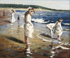A summer´s day on the beach by Joaquín Sorolla - jigsaw puzzle pieces) Spanish Painters, Spanish Artists, Giovanni Boldini, Beautiful Fairies, Great Paintings, Art For Art Sake, Light Painting, Pictures To Paint, Art Images