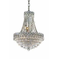 Elegant Lighting, 8-Light Chrome Chandelier with Clear Crystal, EL1902D16C/RC at The Home Depot - Mobile