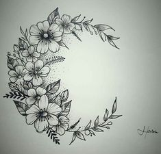 Super Frauen Tattoo - Mond Blume Tattoo Moon Flowers Tattoo… - diy tattoo images - Tattoo Designs For Women Trendy Tattoos, Small Tattoos, Tattoos For Women, Tattoo Designs For Women, Body Art Tattoos, New Tattoos, Sleeve Tattoos, Tatoos, Woman Tattoos
