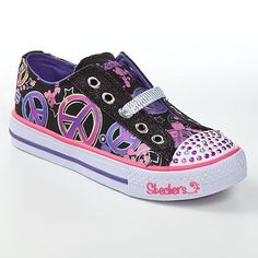 Skechers Twinkle Toes Shuffles Lovable Light-Up Shoes - Girls