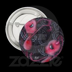 Dance with me Button $2.75 , Day of the Dead Art by Abril Andrade