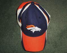Youth Boys Blue, Orange DENVER BRONCOS NFL REEBOK Hat, Stretch Fit One Size, GUC #REEBOKNFLEQUIPMENT #DenverBroncos
