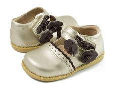 Livie and Luca Fall 2014 Bluebell Gold Patent Leather – Posh Closet Children's Boutique