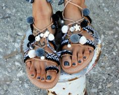 Greek sandals gladiator sandals leather by DimitrasWorkshop