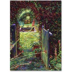 Trademark Fine Art Wicket Garden Gate Canvas Art by David Lloyd Glover, Size: 35 x 47, Multicolor