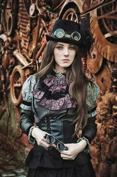 Victorian-like Steam Punk fashion