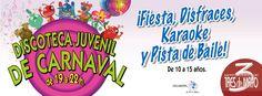 ¡¡No te pierdas este Sábado la Discoteca Juvenil de Carnaval en el C.C 3 de Mayo de 19:00 a 22:00 hrs!! :D  ¡Fiesta, Disfraces, Karaoke y Pista de Baile! De 10 a 15 años :)  www.cc3demayo.com  Twitter: https://twitter.com/cc3demayo Pinterest: http://pinterest.com/CC3DEMAYO/pins/