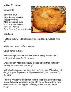 - indian frybread -