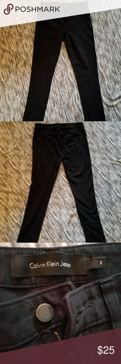 Calvin Klein jeggings Super soft and stretchy. Very comfortable! Calvin Klein black jeggings. Every wardrobe needs a good pair of black jeggings! Perfect condition, no wear at all. Next day shipping! Calvin Klein Jeans Pants Skinny