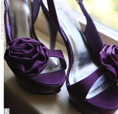 I would love to wear a fabulous pair of purple heels with my wedding dress.