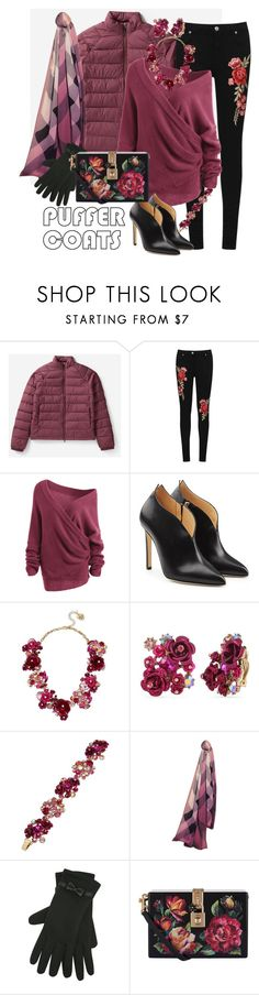 """""""Rose Garden"""" by bigskydreams ❤ liked on Polyvore featuring Everlane, WearAll, Chloe Gosselin, Betsey Johnson, Burberry, M&Co and Dolce&Gabbana"""