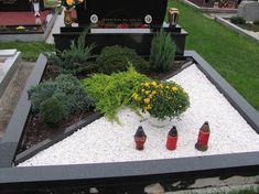 FOTOGALERIE | UKÁZKA VÝSADBY HROBŮ | ovocné stromky Grave Decorations, Cemetery Art, House Stairs, Flower Arrangements, Garden, Flowers, Ber, Plants, Design