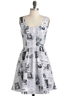 Start Spreading the Mews Dress. #newspaper #modcloth