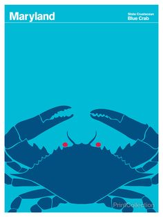 Maryland Blue Crab - 8 X 10 or 11 X 14 would do nicely!