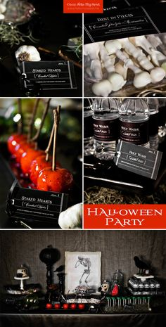 halloween party food ideas via www. Halloween Party Printable Dessert Table Party by Hel. Halloween Chic, Halloween Birthday, Halloween Party Decor, Holidays Halloween, Halloween Treats, Vintage Halloween, Happy Halloween, Halloween Weddings, Gothic Halloween
