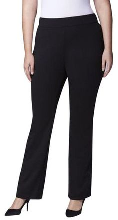 NEW WOMENS RIBBED SLIM FIT TROUSERS LADIES PULL ON BOOTLEG PANT OFFICE PLUS SIZE