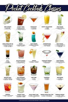 Cocktail Drinks, Fun Drinks, Yummy Drinks, Cocktail Recipes, Alcoholic Drinks, Cocktail List, Beverages, Beach Cocktails, Colorful Cocktails