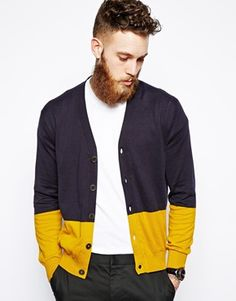Image 1 ofPS by Paul Smith Cardigan with Colour Block