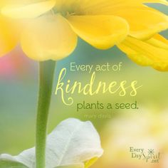 Every Act of Kindness Plants a Seed! Uplifting Quotes, Positive Quotes, Positive Thoughts, Inspirational Quotes, Motivational, Positive Psychology, Human Kindness, Kindness Matters, Act Of Kindness Quotes