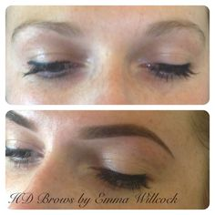 HD Brows by Emma Willcock. Before & after!
