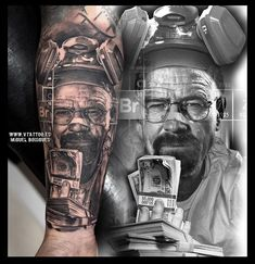 Walter White from Breaking Bad tattoo art by Miguel Bohigues Spain