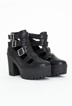 Missguided - Rositta Buckle Detail Ankle Boots
