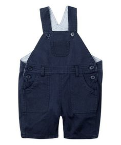 Another great find on #zulily! Navy Twill Shortalls - Infant #zulilyfinds