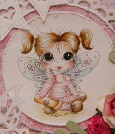 Bestie close-up by Eva Marie.... see entire card in her blog post