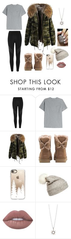 """Winter's coming"" by kiaaaaaaaa ❤ liked on Polyvore featuring River Island, T By Alexander Wang, UGG, Casetify, WithChic and Lime Crime"