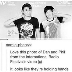 No I just like the picture they're not holding hands>>THEY TOTALLY ARE PHAN HATER