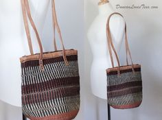 Market Bag / 1970s Ikat Tote / Straw Rafia by DuncanLovesTess, $49.00