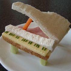 Piano sandwich - fun food art for kids!