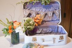 "old suitcase and maps for card box- George *Aurora Jean and Company* Any way you have a banner that says ""CARDS"" like this one? Wedding Envelope Box, Wedding Envelopes, Lakeside Wedding, Destination Wedding, Wedding Planning, When I Get Married, I Got Married, Our Wedding, Dream Wedding"