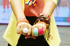 Colored cuffs, friendship bracelets, colored rings! Shop Wear Mauve, Tomato & Gifts Ahoy! Click link for more deets!
