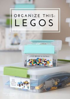 Get your Lego kits organized and labeled with this simple organizing project! Never loose a manual or piece again! Get your Lego kits organized and labeled with this simple project! Never loose a manual or piece again! Lego Kits, Playroom Organization, Organization Hacks, Playroom Ideas, Legos, Lego Lego, Lego Batman, Lego Minecraft, Bloc Lego