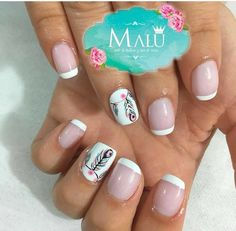 Nails, Beauty, Short Nails, Nail Designs, Fingernail Designs, Beleza, Ongles, Finger Nails, Nail