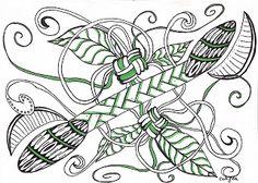 Lieschens-Bilder: Zentangle 279  Challenge #225