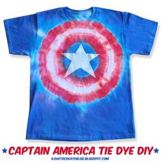 DIY Captain America Tie Dye Avengers Shirt. This is going to be my Fourth of July shirt!