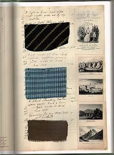 Page from Barbara Johnson's album  or sewing diary